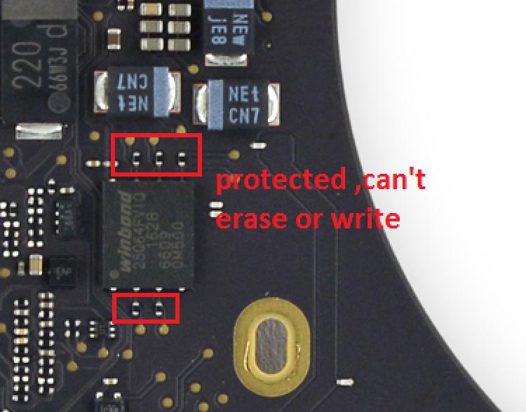 Erase and write the EFI-ROM Macbook 2016 and 2017
