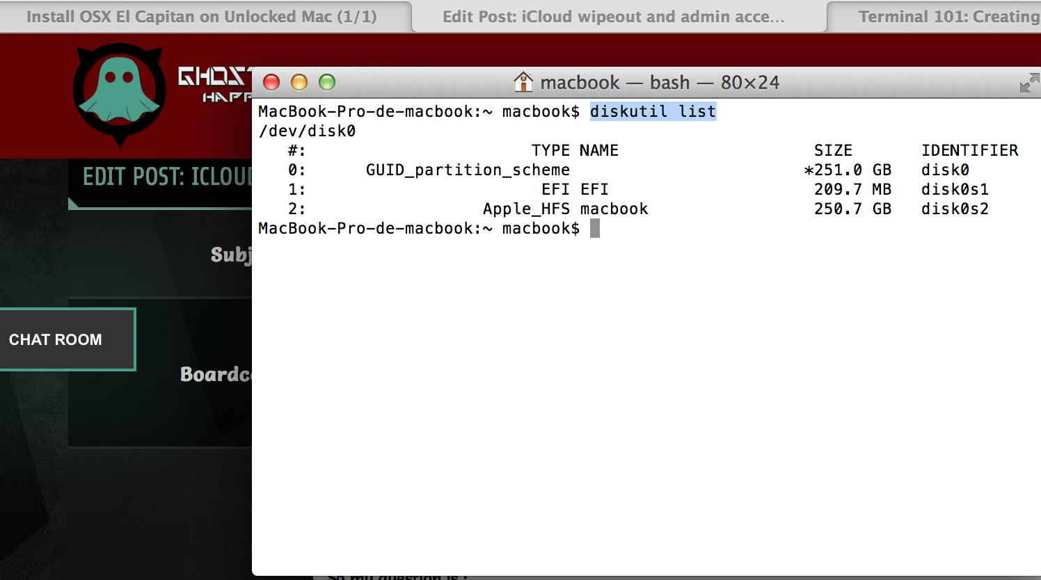 iCloud wipeout and admin access on EFI locked Mac - Ghostlyhaks Forum